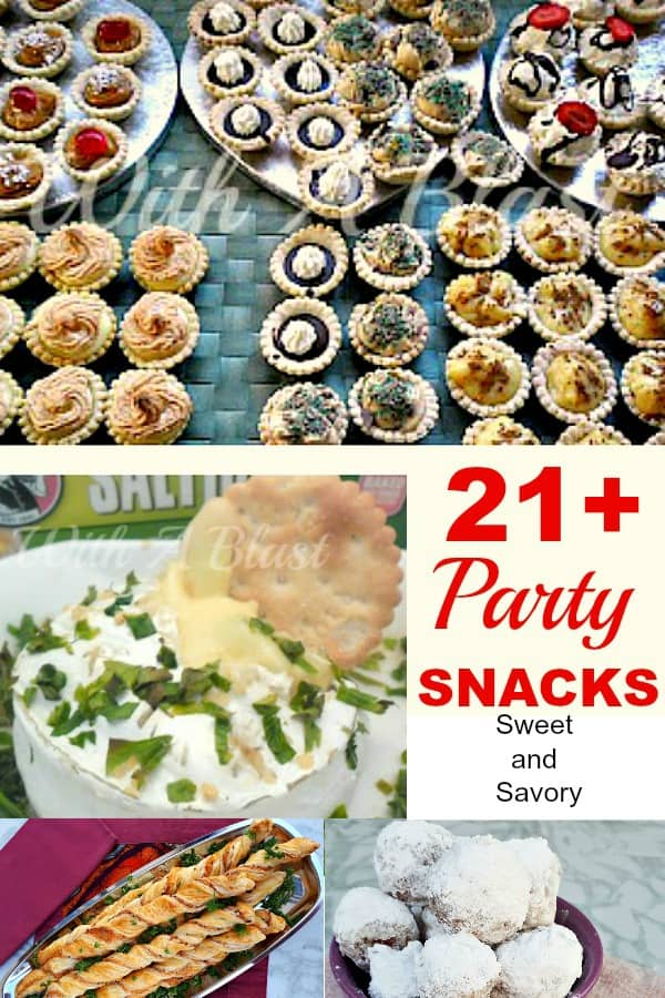 Sweet and Savory Party Snacks #PartySnacks #SweetPlatters #SavoryPlatters #SweetSnacks #SavorySnacks #SnackRecipes