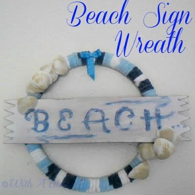 Beach Sign Wreath