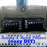 Beauty & Beast Pillows {easy DIY}
