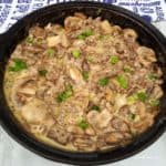 Beef Stroganoff with Wholegrain Mustard