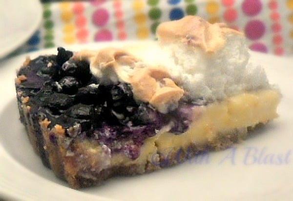 Lemon Meringue with a decadent Blueberry Compote ~ Summer's #1 dessert