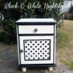 Black & White Nightstand