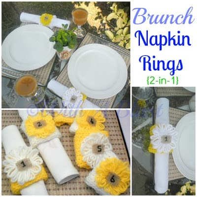 Brunch Napkin Rings (2 in 1)