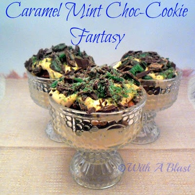 This Caramel Mint Choc-Cookie Fantasy is a divine, no-bake dessert and so perfect for all Mint and/or Caramel lovers