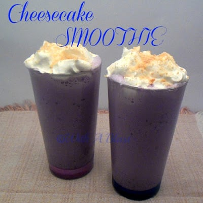 Cheesecake Smoothie   - Best of both worlds !    #smoothies #drinks #cheesecake
