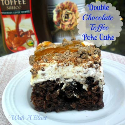 Double Chocolate Toffee Poke Cake