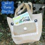 Jute & Burlap Tote Bag