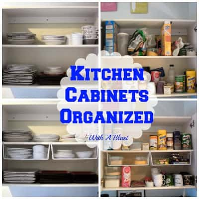How to get your Kitchen Cabinets Organized - Quick and easy ! #Organizing #Storage #KitchenCabinets