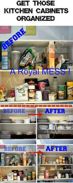 How to get your Kitchen Cabinets Organized - Quick & easy !