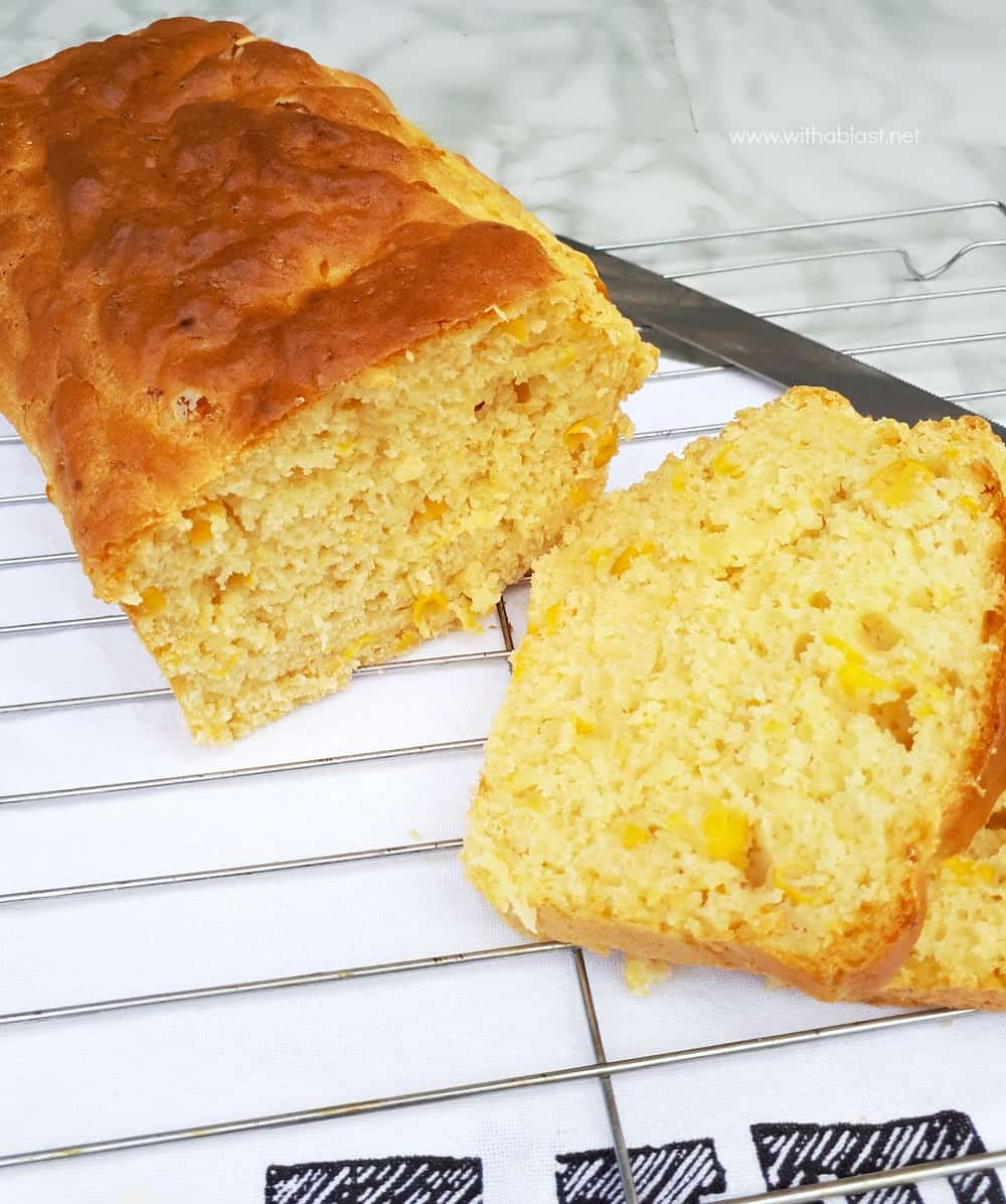This recipe for a Quick Corn Bread (with actual corn) is so simple - mix, bake and serve ! The bread makes the perfect side to a main meal, or enjoy as a snack