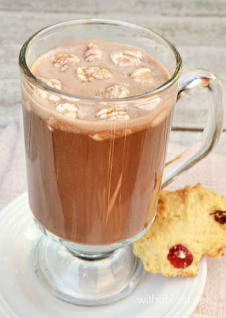 Thick Coconut Hot Chocolate {Lactose-Free}