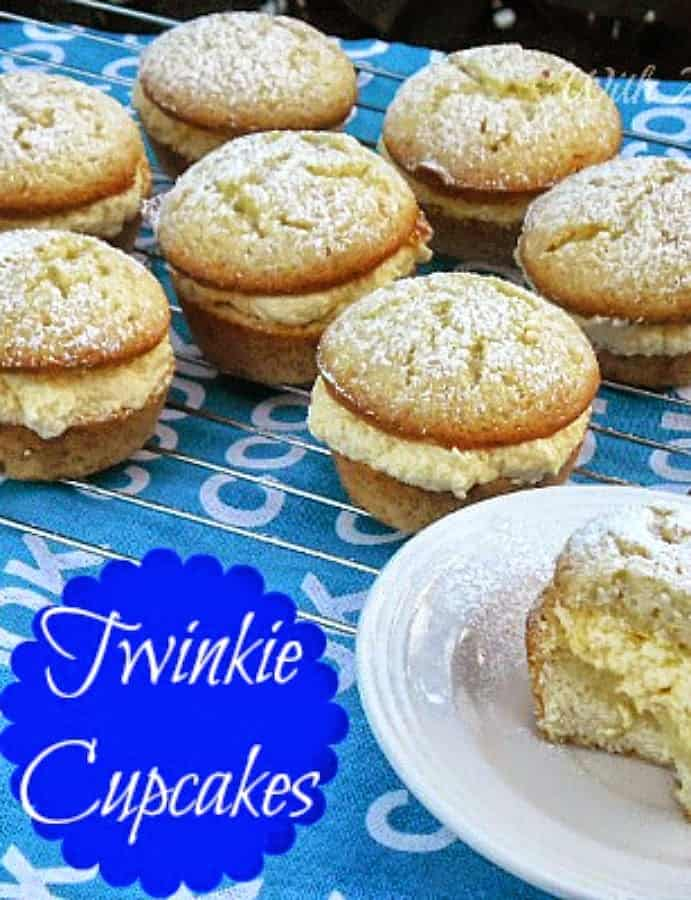 How to make your own Twinkie Cupcakes ~ feather light with the creamiest filling