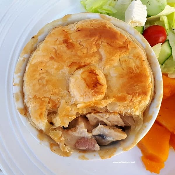 Chicken Bacon and Mushroom Pot Pies