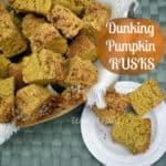 Dunking Pumpkin Rusks