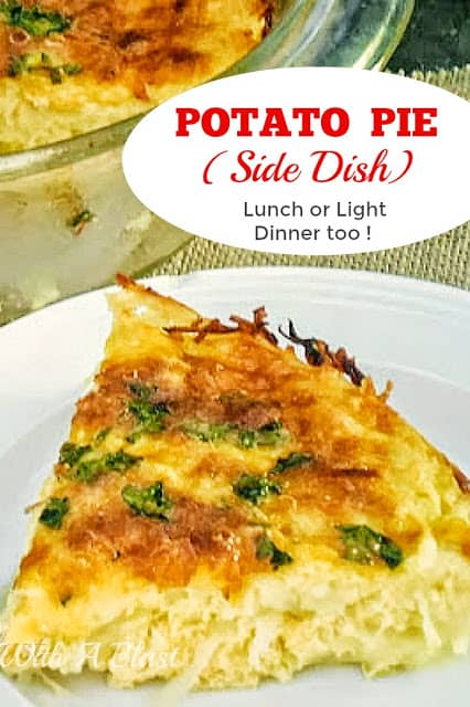 Self-Crusting Potato Pie to serve as a side or a meatless main dish with a salad