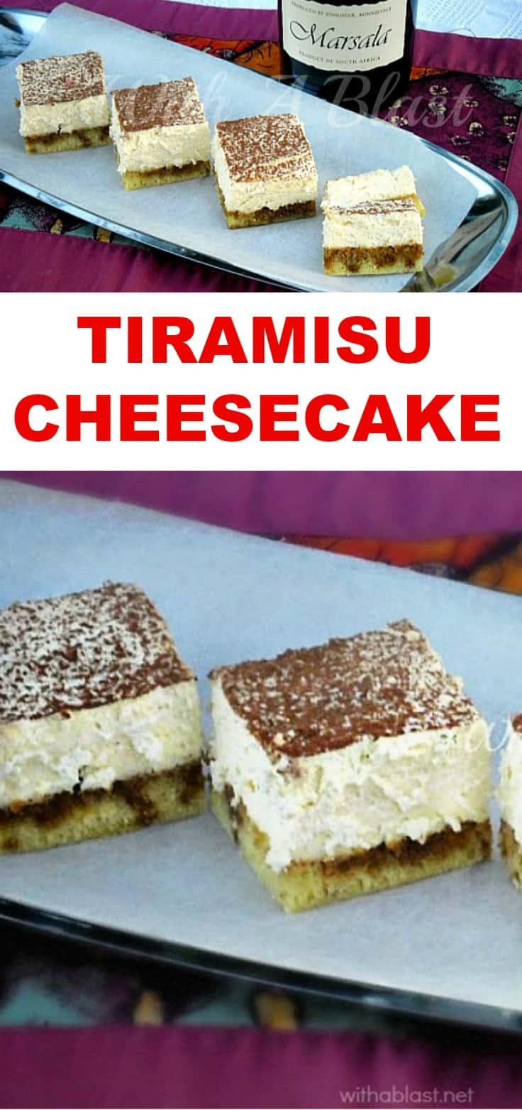 Tiramisu Cheesecake - Dreamy and so very creamy Cheesecake ~ never fail recipe !