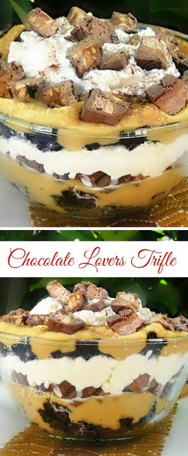 This Trifle is calling all Chocolate lovers ! ~ really, it is so decadent, you *have* to try it !