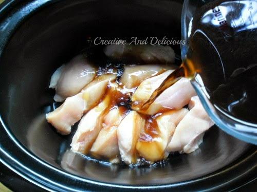 Layered Slow-Cooker Dinner ( Hong Kong Chicken )