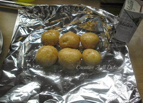 Layered Slow-Cooker Dinner ( Baked Potatoes )