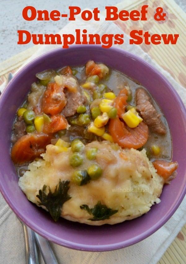 One-Pot Beef and Dumplings Stew