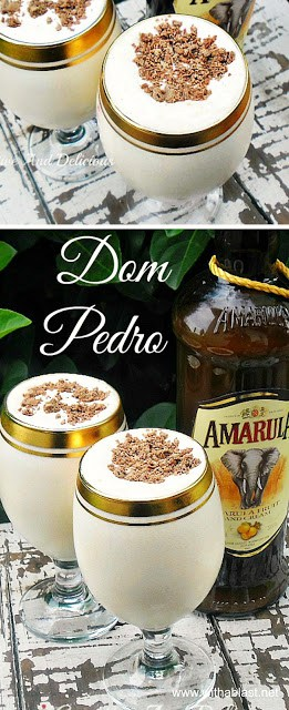 Dom Pedro ~ thick and smooth, BEST drinking boozy ice-cream based dessert !