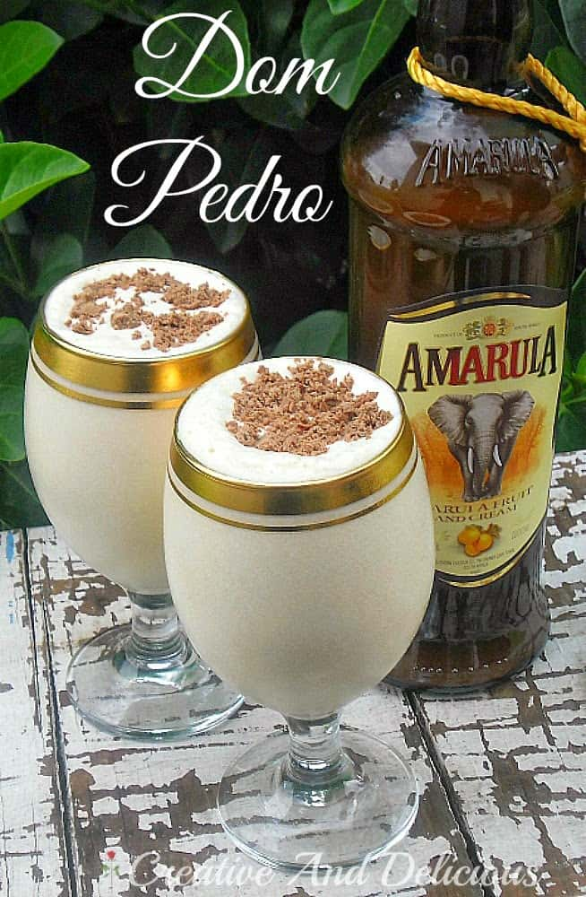Dom Pedro ~ thick and smooth, BEST drinking boozy, ice-cream based dessert !