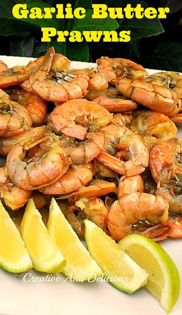 Mouthwatering Garlic Butter Prawns - serve as an appetizer or as part of a savory platter