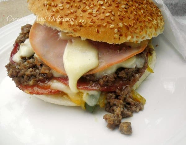 Heart Attack Sandwich ~ Perfect weekend (or weekday) food for a crowd, made quickly and easily ! #Sandwich www.withablast.net