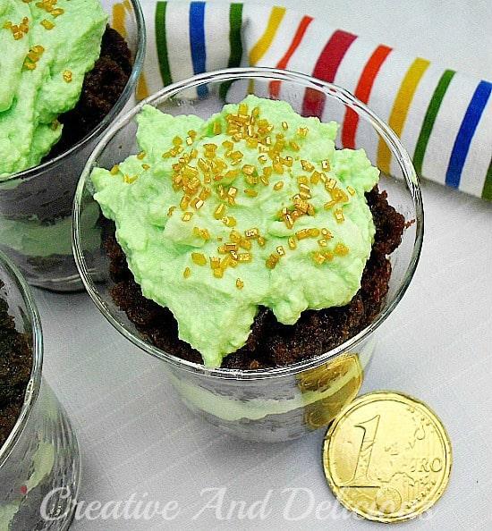Mint Torte and Cream Dessert