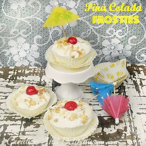 Pina Colada Frosties is a Non-Alcoholic frozen version of the ever so popular Pina Colada Cocktail and just perfect to end off a Summer's meal !