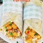 Sweet Chili Chicken Tortillas with Coleslaw