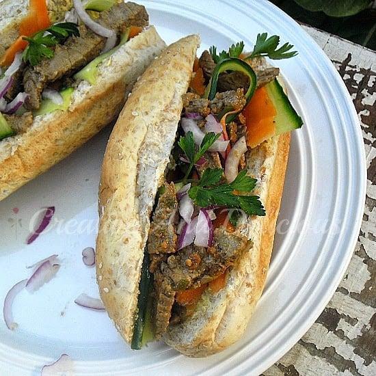 Vietnamese Steak Rolls ~ perfect light dinner or great for lunch as well #SteakRolls #Dinner #Lunch
