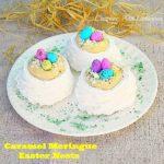 Caramel Meringue Easter Nests