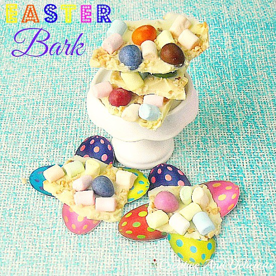Nutty Easter Bark ~ Quick and Easy 4 Ingredient Easter Sweet Treat