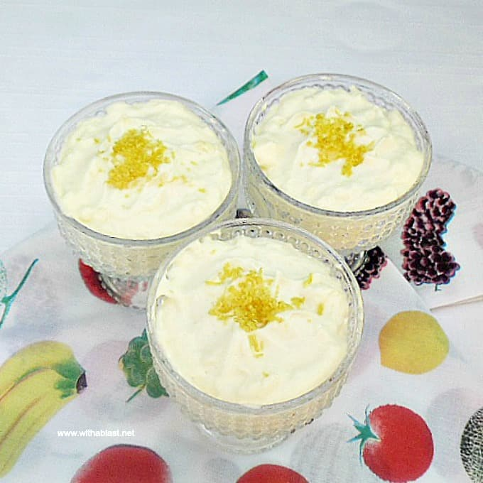 Lemon and White Chocolate Mousse is a timeless, delicious and light dessert - refreshing and zesty ! Make-ahead friendly recipe #LemonMousse #EasyMousseRecipes #WhiteChocolateDesserts #EasyDesserts #LemonDesserts