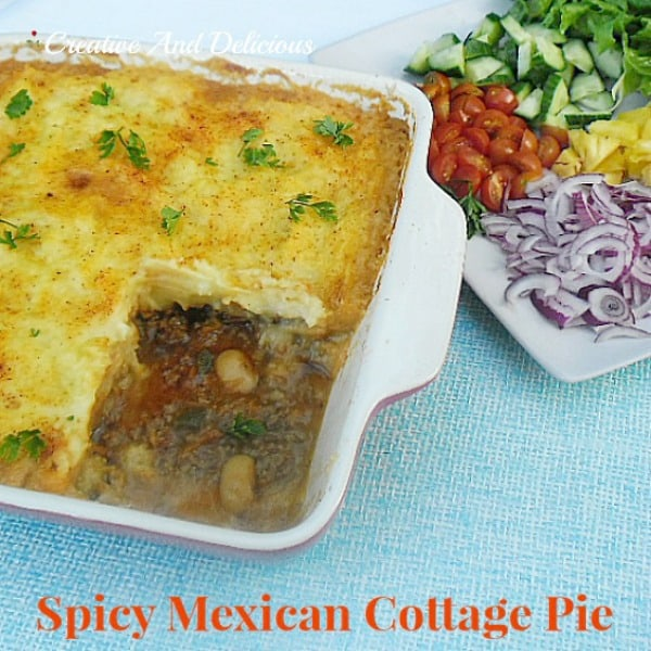 Spicy Mexican Cottage Pie ~ a delicious spin on the everyday favorite!