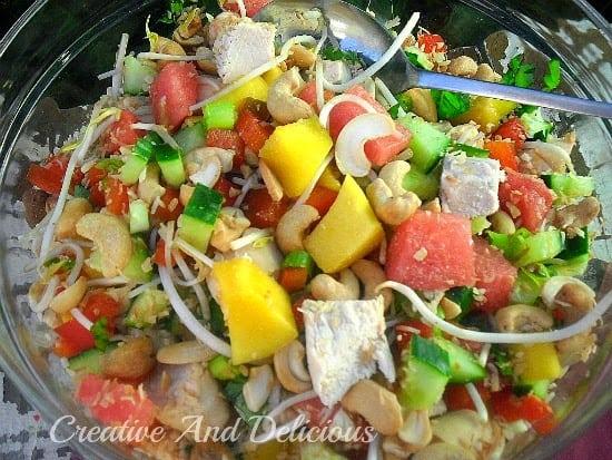 Thai Mango Chicken Salad