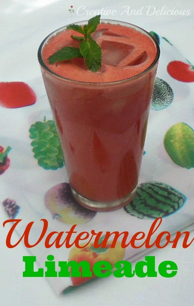 Watermelon Limeade is a delicious, fresh Non-Alcoholic drink !