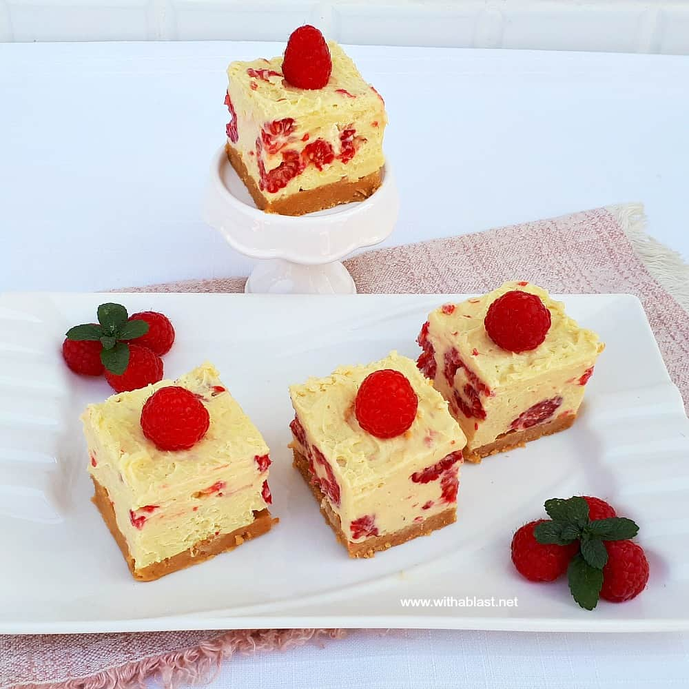 White Chocolate Raspberry Cheesecake No-Bake