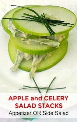 Delicious, refreshing Apple Salad ~ ideal as a side or appetizer !