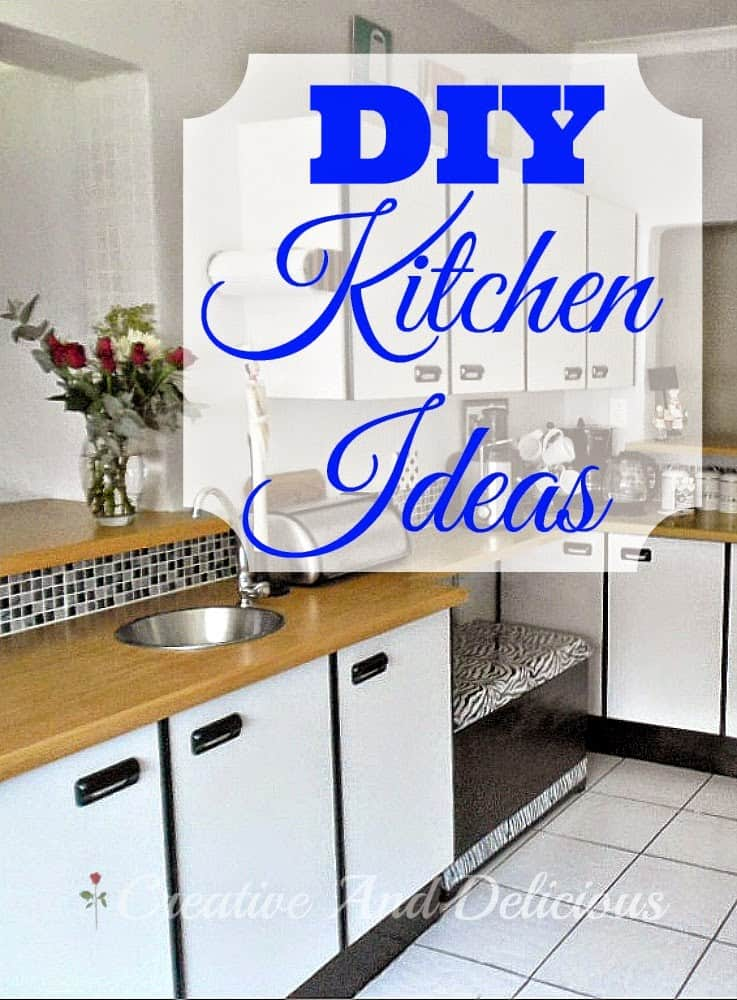 DIY Kitchen Ideas - big or small - Easy and Do-Able do it yourself ideas for Your Kitchen ! Add more storage, change a couple of little things or built a pull-out pantry.