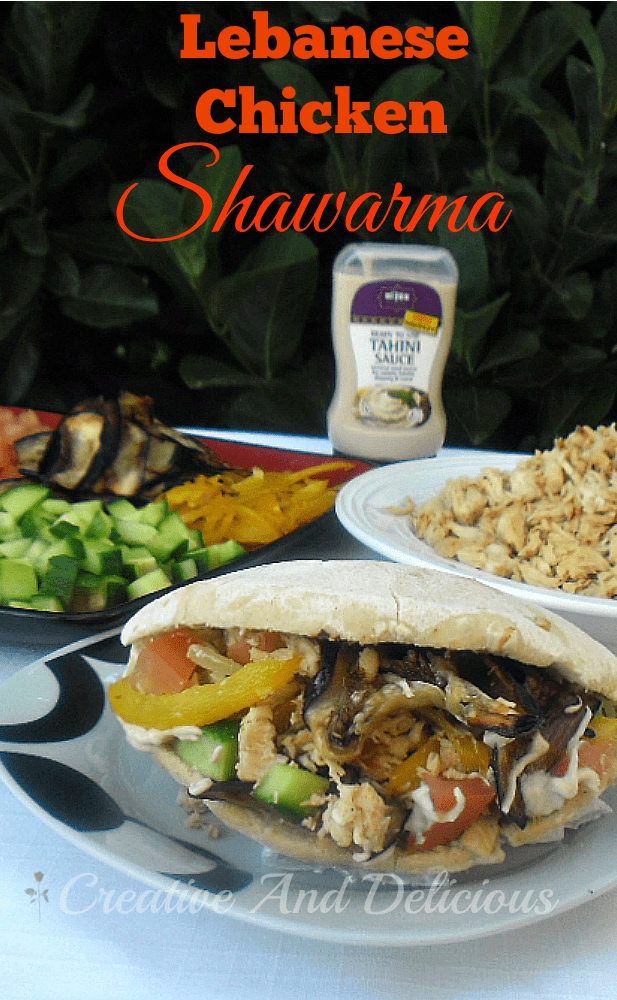 Lebanese Chicken Shawarmas ~ Absolutely a taste sensation which you can not miss ! Delicious #MarinadeSauce recipe included ! #Shawarma #ChickenShawarma