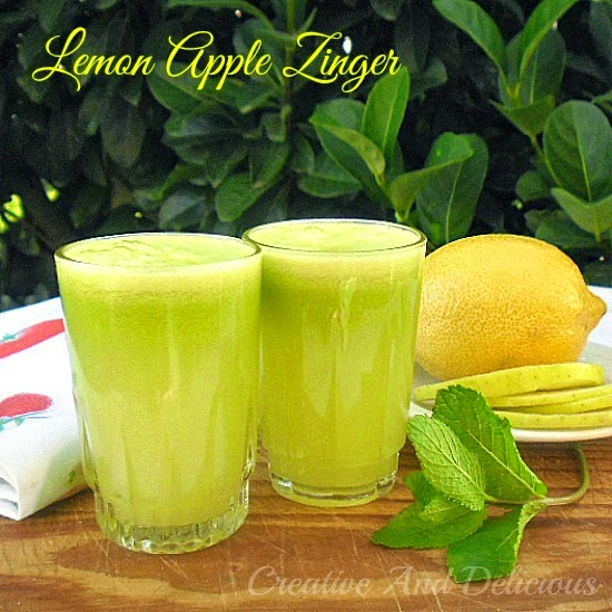 Lemon Apple Zinger is a refreshing and zesty, non-alcoholic Apple drink and takes only minutes to make - loved by kids and adults #SummerDrink #KidFriendly #AppleDrink