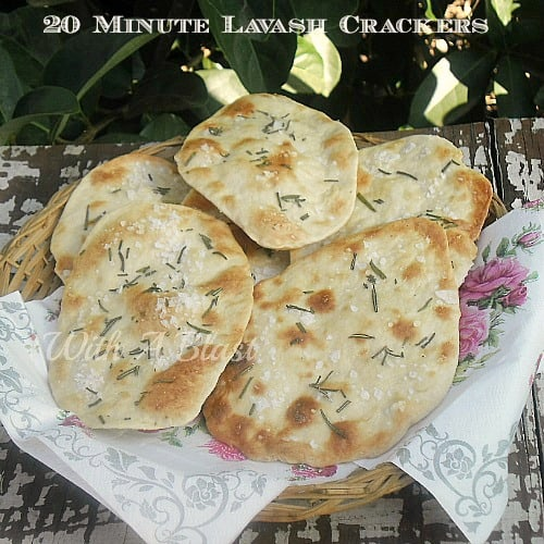 20 Minute Lavash Crackers
