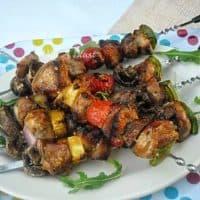 BBQ Teriyaki Pork Kebabs