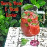 Berry Rose and Basil Cooler