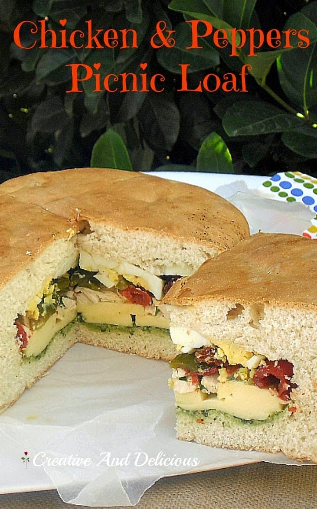 Chicken and Peppers Picnic Loaf