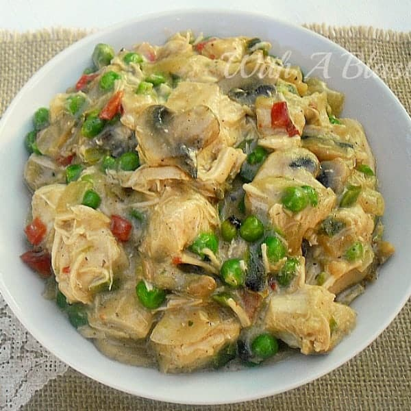 Chicken-A-La-King is so tasty, no one will know this is a healthy, low fat version of this very popular dish