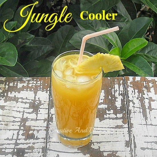Jungle Cooler ~ Tastes from the Jungle in this delicious, refreshing drink ! #Drinks #NonAlcoholic #Beverages