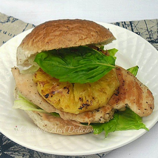 Lime and Pineapple Chicken Burger